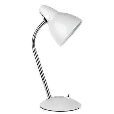 Trax Metal Desk Lamp, White