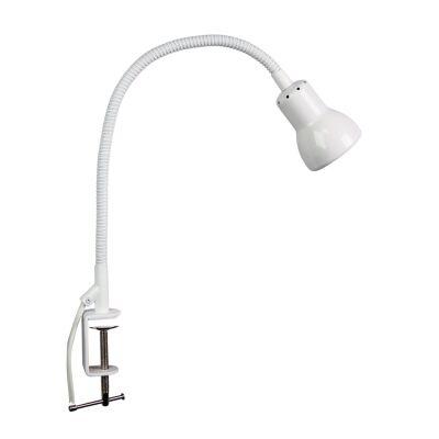 Scope Metal Adjustable Clamp Lamp, White