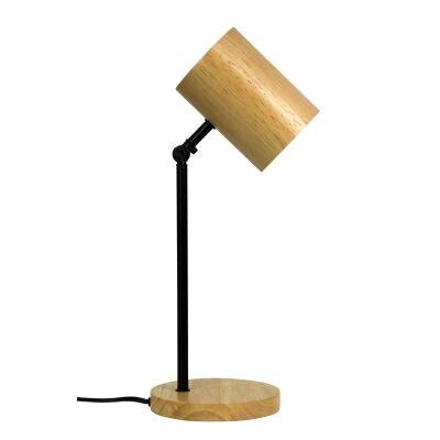 Chad Timber & Metal LED Desk Lamp, Black