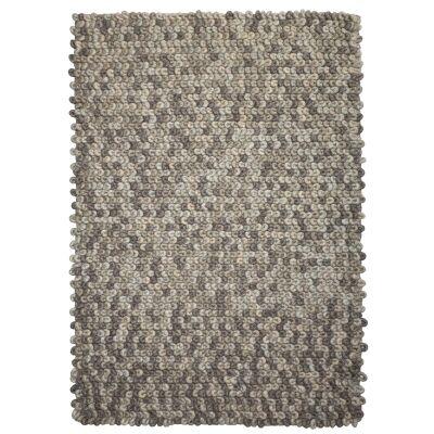 Sleeping Loop Wool Rug, 225x155cm, Stone