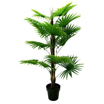 Set of 2 Artificial Fan Palm in Pot