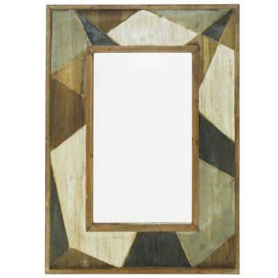 Ganado Geometric Timber Frame Wall Mirror