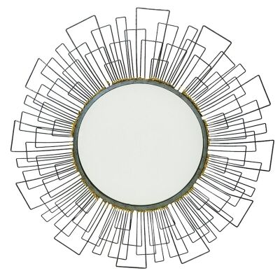 Sahara Metal Wire Frame Round Wall Mirror