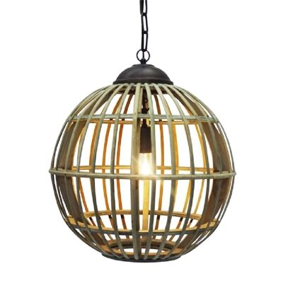 Oliver Timber Ball Pendant Light