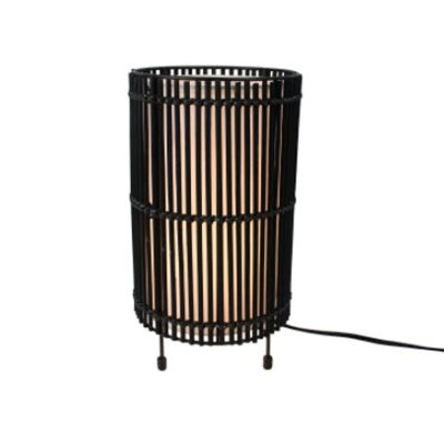 Sanong Bamboo & Iron Table Lamp - Black