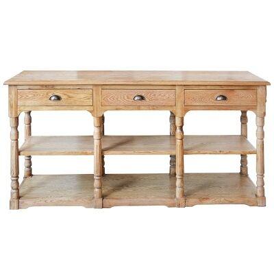 Oscar Oak Timber Console Table, 180cm, Natural Oak