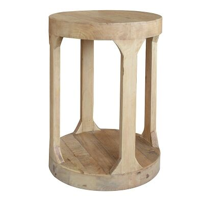 Frans Recycled Timber Round Side Table