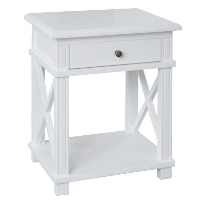 Phyllis Birch Timber Side Table, White