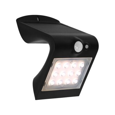 Solar IP65 Exterior Solar Powered LED Wall Light, 1.5W / 3000K