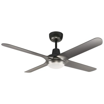 "Ventair Spyda Commercial Grade Indoor / Outdoor 4 Blade Ceiling Fan with CCT LED Light, 125cm/50"", Titanium"