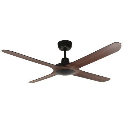"Ventair Spyda Commercial Grade Indoor / Outdoor 4 Blade Ceiling Fan, 125cm/50"", Walnut"