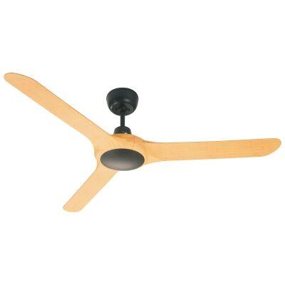 "Ventair Spyda Commercial Grade Indoor / Outdoor 3 Blade Ceiling Fan, 140cm/56"", Bamboo"