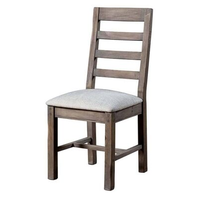 Settler Reclaimed Timber Dining Chair, Fabric Seat