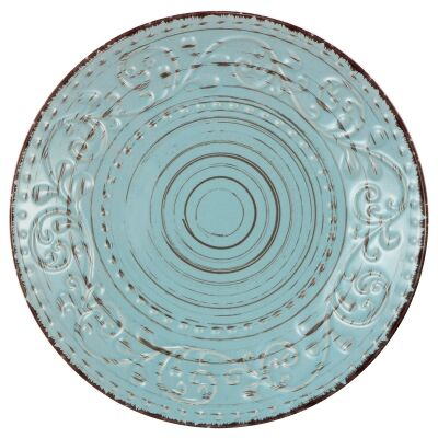 Dane Hill Stoneware Dinner Plate, Aqua