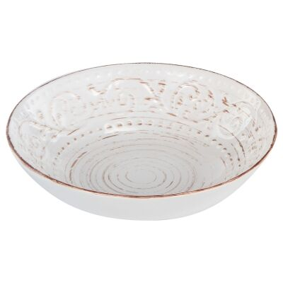 Dane Hill Stoneware Salad Bowl, Cream