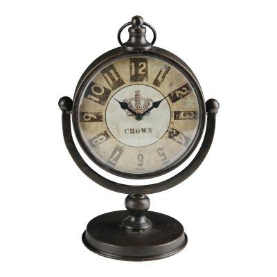 Thornton Vintage Metal Table Clock