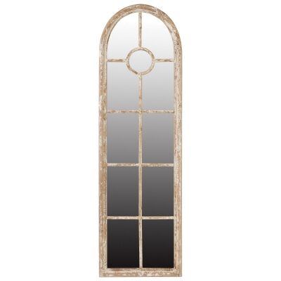 Montreal Fir Timber Frame Arch Wall / Floor Mirror, 200cm