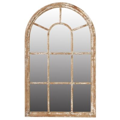 Montreal Fir Timber Frame Arch Wall Mirror, 138cm