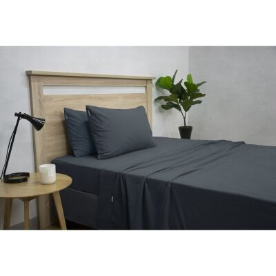 Apartmento Micro Flannel Sheet Set, King Single, Navy