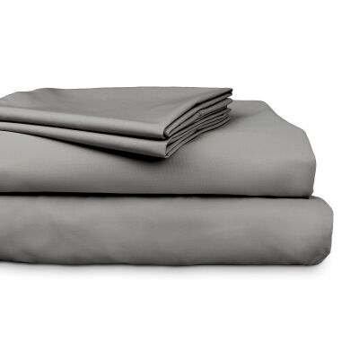 Ajee 4 Piece 300TC Cotton Sheet Set, King, Charcoal