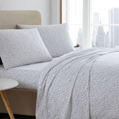 ED By Ellen Degeneres I Love You Cotton Bed Sheet Set, Queen
