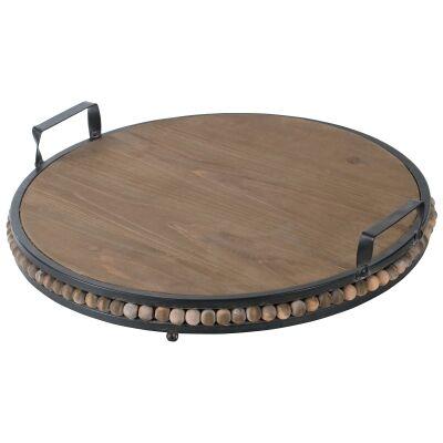 Oda Fir Timber & Metal Round Serving Board