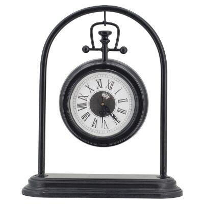 Edera Metal Hanging Fob Desk Clock