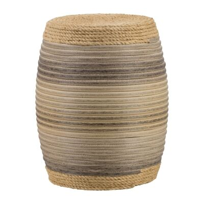 Kirton Rattan Drum Stool / Side Table