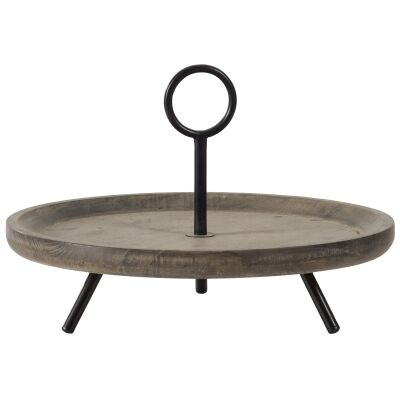 Mercator Wood & Metal Round Tray Stand