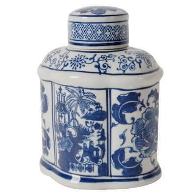 Connor Porcelain Oval Temple Jar