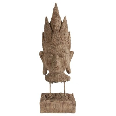 Nashda Buddha Head Sculpture on Stand