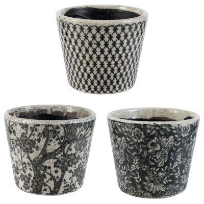 Corliss 3 Piece Porcelain Herb Pot Set