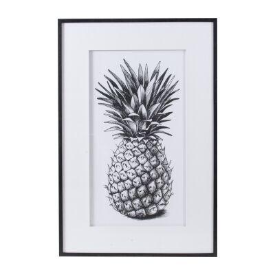 Moreton Framed Pineapple Wall Art Print, 124cm