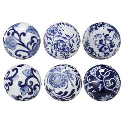 Elwin 6 Piece Porcelain Orb Decor Set