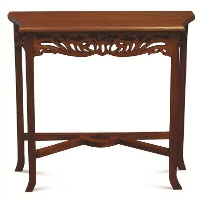 Maciej Solid Mahogany Timber 120cm Sofa Table - Mahogany