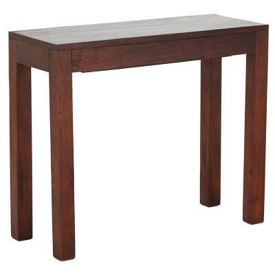 Amsterdam Solid Mahogany Timber Single Drawer 90cm Sofa Table - Mahogany