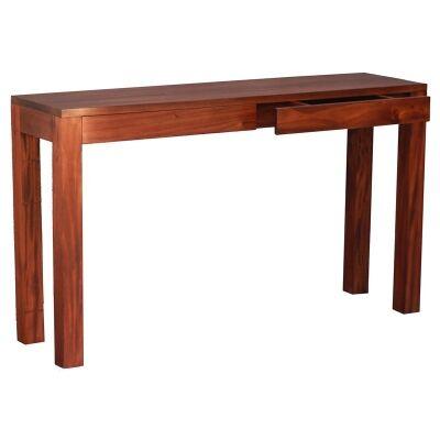 Amsterdam Solid Mahogany Timber 2 Drawer 130cm Sofa Table - Mahogany