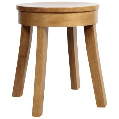Bonn Commercial Grade Rubber Wood Table Stool, Light Oak
