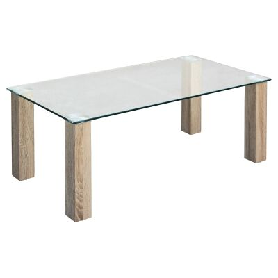 Emilio Glass Top Coffee Table, 120cm