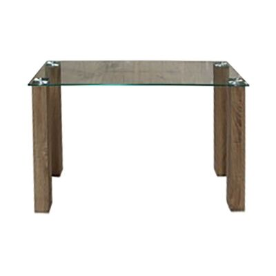 Emilio Glass Top Console Table, 120cm