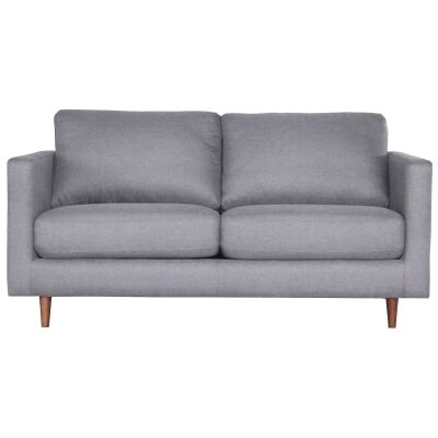 Benji Commercial Grade Fabric Pull Out Sofa Bed, Innerspring Mattress, Double, Grey