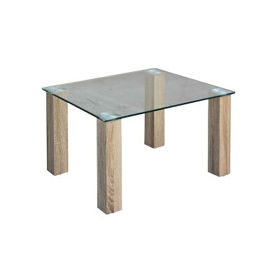 Emilio Glass Top Square Lamp Table