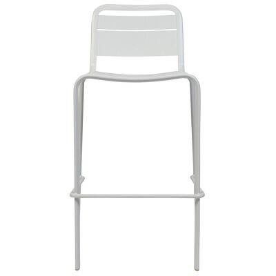 Lameretta Commercial Grade Aluminium Indoor / Outdoor Bar Stool, White