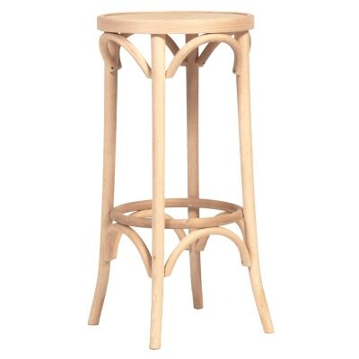 Florence Polish Made Commercial Grade Beech Timber Bar Stool, Natural