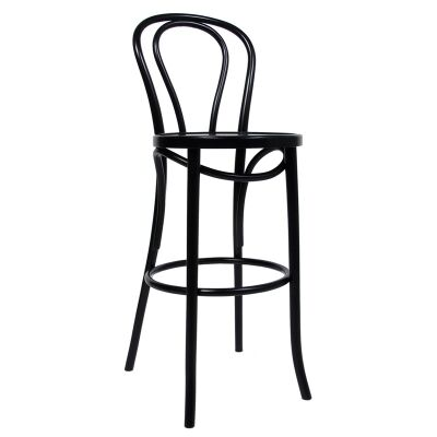 Princess Polish Made Commercial Grade European Beech Timber Bar Stool - Black