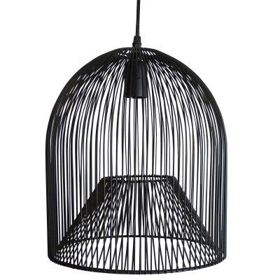 Minli Metal Wire Pendant Light, Black