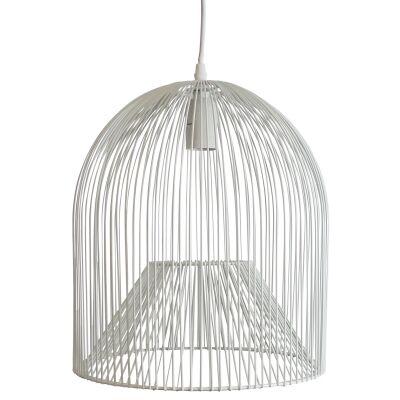 Minli Metal Wire Pendant Light, White