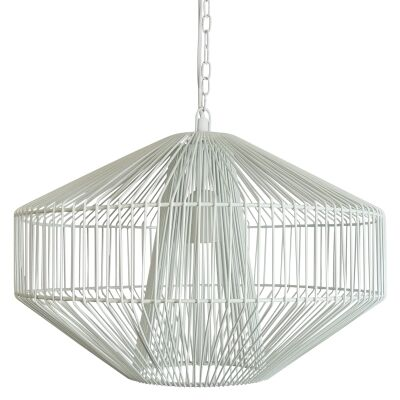 Misse Metal Wire Pendant Light, White