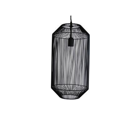Mollo Metal Wire Pendant Light, Black