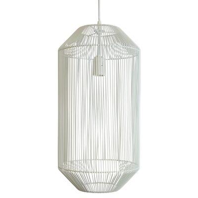 Mollo Metal Wire Pendant Light, White